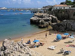 Simple beach in Cascais, Portugal