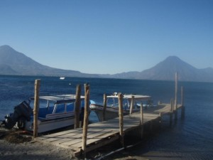 A dock on Lake Atitlan Guatemala