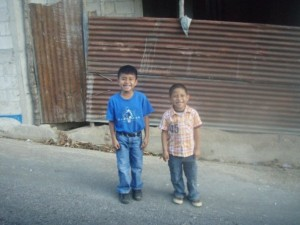 Local children in Lake Atitlan Guatemala