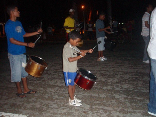 Local drummer, Bocas del Toro
