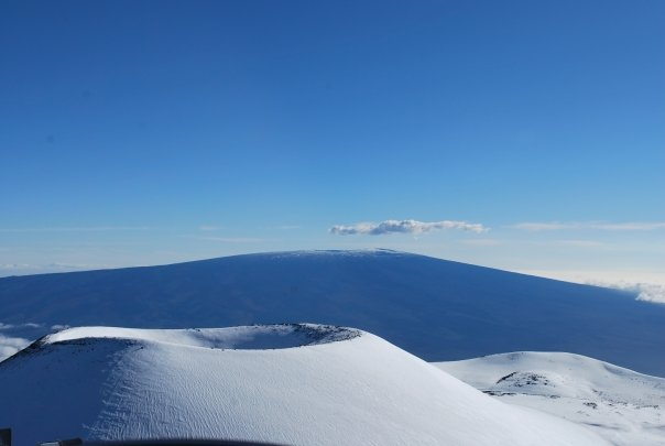 Snow on Mauna Kea Hawaii