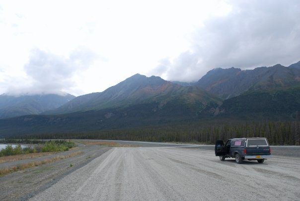 Highway in Yukon Territory Canada
