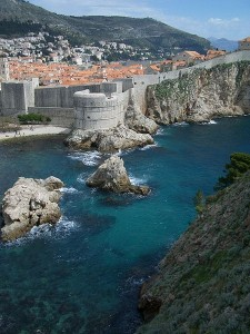 The walls of Dubrovnik Croatia