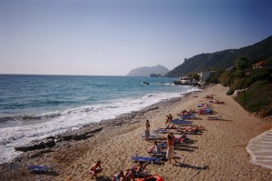 Pink Palace Beach Agios Gordis Corfu Greece