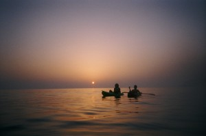 Sunset Kayak Corfu Greece