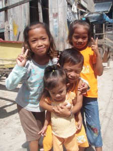 Children on the island of Mabul