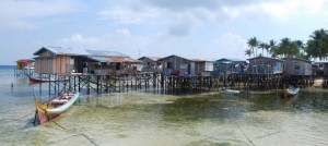 Local village on Mabul, Borneo