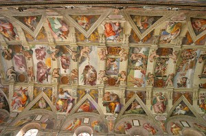 Sistene Chapel Ceiling Vatican City