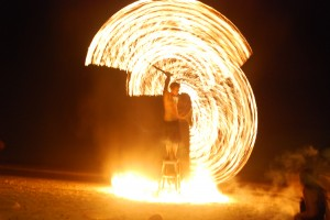 Fire dancer on Ko Tao Thailand