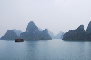 Cruising through Halong Bay Vietnam