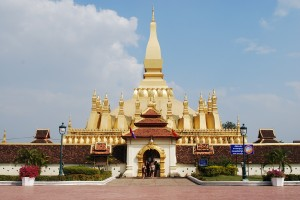 Pha That Luang Temple Vientiane Laos