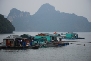 A Floating Village on Halong Bay Vietnam