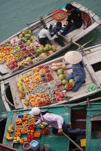 A Floating Marketplace in Halong Bay Vietnam
