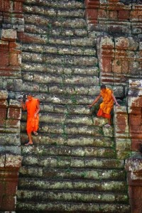 Temples of Angkor Cambodia Monks
