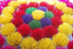 Colorful Incense in Hue Vietnam