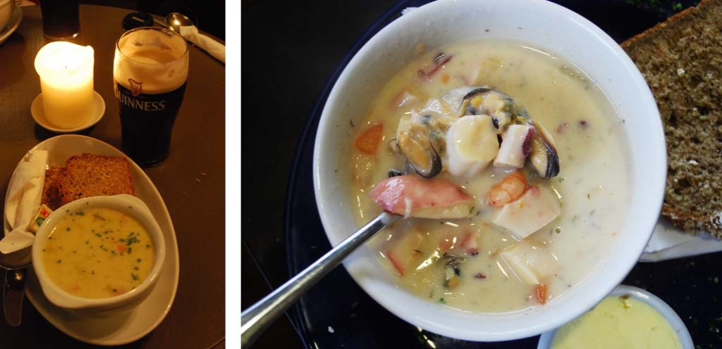 Best seafood chowder in Ireland