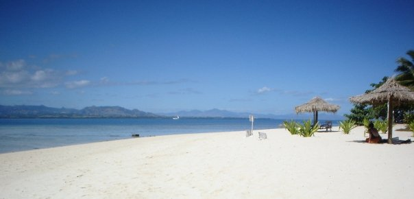 Beach perfect for a Fiji honeymoon