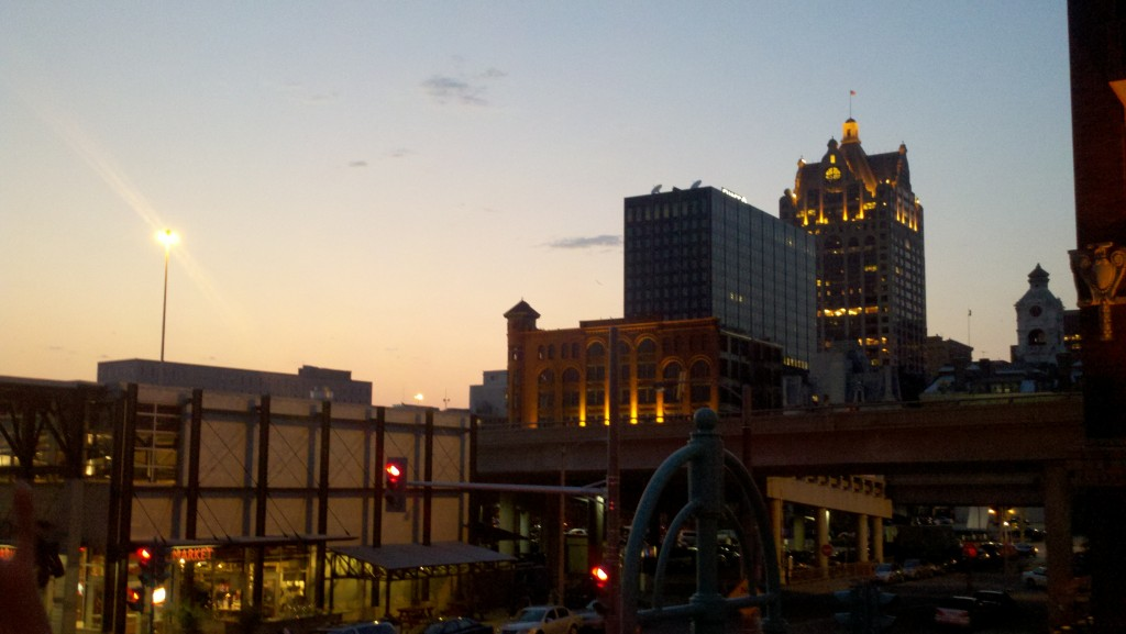 View from Cafe Benelux in historic downtown Milwaukee
