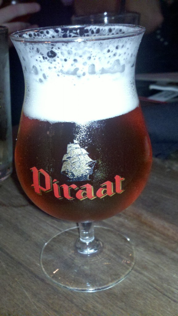 Piraat beer at Milwaukee's Cafe Benelux--voted among the world's best