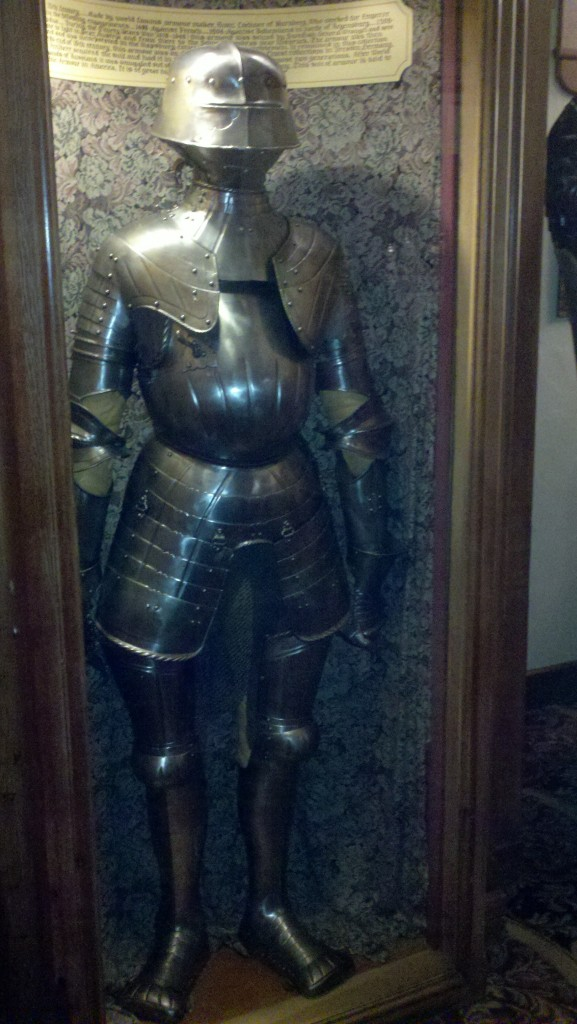 A medieval knight in Mader's Restaurant Milwaukee