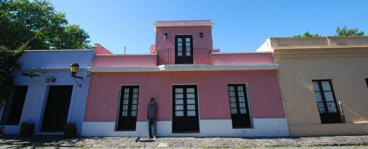 Painted walls of Colonia de Sacramento, Uruguay