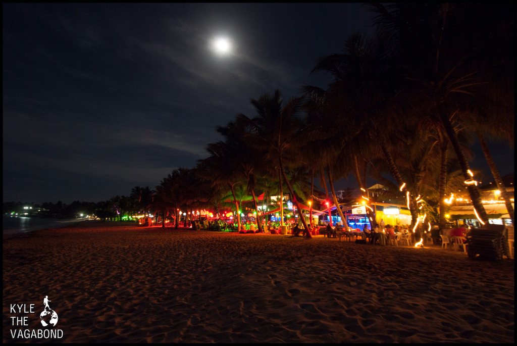 Cabarete Beach Bars at Night watermark