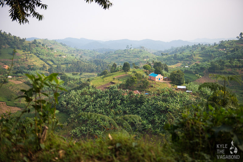 Mountain villages in Uganda